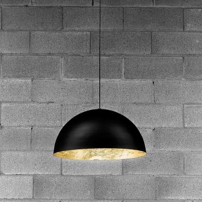 Stchu moon 02 60cm zwart goud design hanglamp catellani for Design hangeleuchte