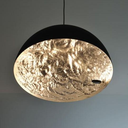 Stchu moon 02 60cm zwart goud design hanglamp catellani for Designer hangelampen
