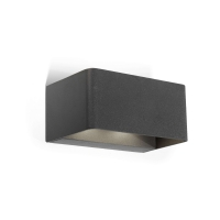 WILSON wandlamp antraciet by Leds-C4 Outdoor 05-9684-Z5-CLV1