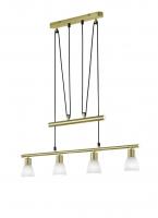 CARICO LED Hanglamp Messing mat by Trio Leuchten 371510408