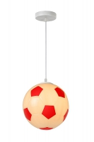 FOOTBALL hanglamp rood by Lucide 43407/25/32