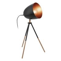 CHESTER tafellamp zwart, koper by Eglo 49385