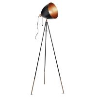 CHESTER vloerlamp zwart, koper by Eglo 49386