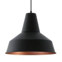 SOMERTON hanglamp zwart, koper by Eglo 49387