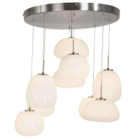 Bollique cluster moderne hanglamp Staal by Steinhauer 7815ST