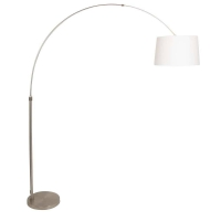 STRESA moderne vloerlamp Staal by Steinhauer 9825ST