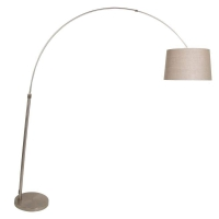 STRESA moderne vloerlamp Staal by Steinhauer 9827ST