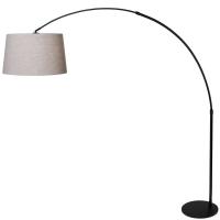 STRESA moderne vloerlamp Zwart by Steinhauer 9830ZW