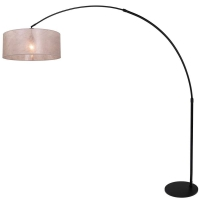 STRESA moderne vloerlamp Zwart by Steinhauer 9833ZW