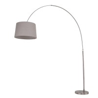 Stresa moderne vloerlamp Staal by Steinhauer 9868ST