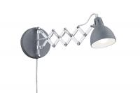 SCISSOR Wand lamp Beton kleur by Trio Leuchten R20321078