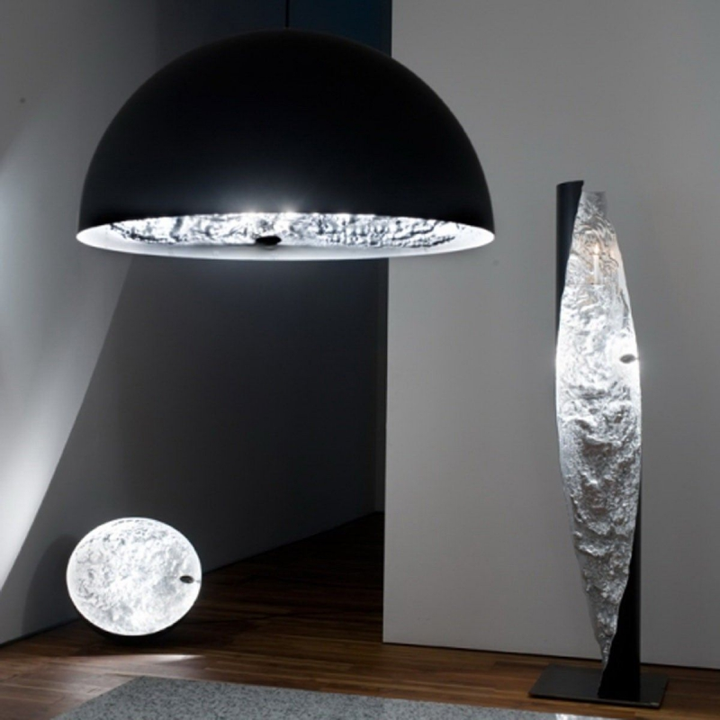 STCHU-MOON 02 60CM ZWART/GOUD DESIGN HANGLAMP Catellani & Smith ...